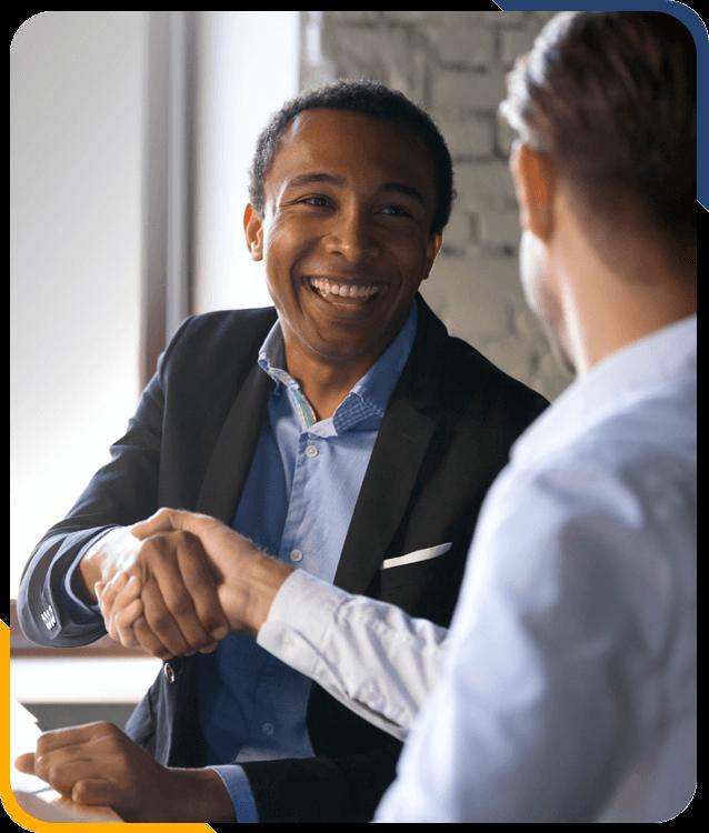 Brokers shaking hands